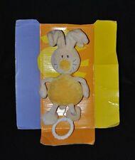 Peluche doudou lapin beige jaune BABYSUN musical 18/22 cm 100% NEUF