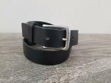 GAP Kids Simple Black Leather Belt Silver Buckle Sz M Wardrobe Basic VGUC NICE!