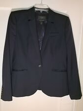 J.CREW Blazer Suit Jacket Super 120's Wool Navy Blue Career 1035 size 10   A886