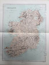 1868 Antique Map; Ireland - William Hughes
