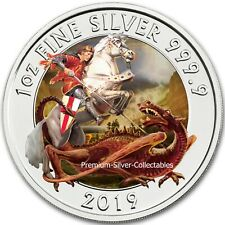 2020 Great Britain Valiant - 1 Ounce Pure Silver and Colorized!