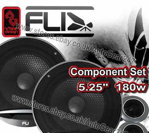 "FLI FU5C COMP Underground 5.25"" 180w 130cm 2-Way Car Van Component Speakers Pair"