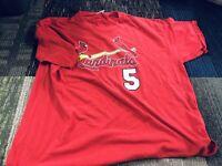 Majestic Albert Pujols St. Louis Cardinals #5 Jersey T-Shirt - Men's Size XL