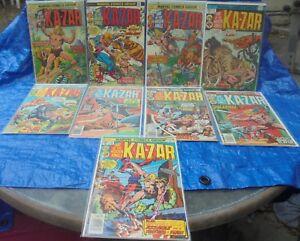 Marvel Comics KA-ZAR Lord Of The Hidden Jungle Lot 1 2 3 8 9 10 17 18 19 20