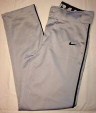Euc Nike Performance Apparel Dri-Fit Baseball Pants Gray/Black Strip Mens Small