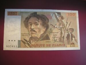 TRES BEAUBILLET DE 100 FRANCS DELACROIX 1981 2