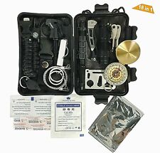 More details for 18 in 1 sos survival kit gear outdoor hiking camping emergency bush craft