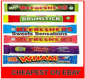 Chew Bars Sweets Retro Wedding Favours Party Bag Fillers oor wullies wham