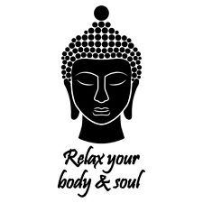 BUDDHA AUFKLEBER Sticker Glas Figur Fliesen Spiegel Bad Deko Wellness Relax Asia