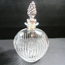 Mikasa Diamond Fire Whisky Bourbon Decanter Cork Stop Tags NEW IB