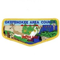 Pilthlako Lodge 229 Flap S63 Okefenokee Area Council Patch GA