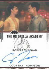 THE UMBRELLA ACADEMY SEASON 1 ROBERT SHEEHAN / CODY RAY THOMPSON DUAL AUTOGRAPH