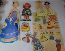 Large Vintage Lot of Paperdolls With Lots of Clothes ~ Some Uncut ~ Wavy Hair
