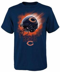 NFL Chicago Bears Helmet Tee, boys size L 14/16, XL 18/20 NWT