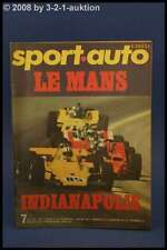 Sport Auto 7/71 Indianapolis LeMans GP Monaco + Poster