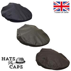 Mens Adults 100/% Cotton Waxed Showerproof Waterproof Flat Caps by Tom Franks NEW