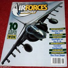Air Forces Monthly 1989 June F-16,RAFEF,Canberra,Greece,Harrier,Sea King