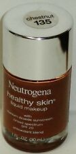 1 New NEUTROGENA Healthy Skin Liquid Makeup Antioxidant Blend SPF20 CHESTNUT 135