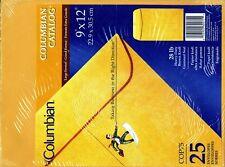 """Columbian 9""""x12"""" envelope. 25 Pack. 28lb. / 2 pk=50 total"""