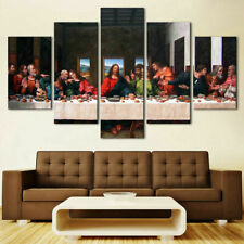Christ Jesus Disciples The Last Supper Canvas Prints Oil Painting Wall Art 5PCS