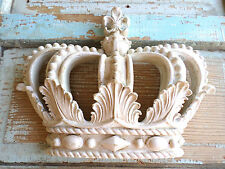 SHABBY n CHIC PRINCESS CROWN *PINK / WHITE CHIPPY PAINT * VINTAGE FINISH* NEW