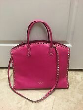 Valentino 'Rockstud' Leather Dome Satchel Pink
