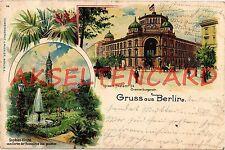 Lithographie aus Berlin mit dem Thema Dom & Kirche