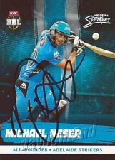 ✺Signed✺ 2016 2017 ADELAIDE STRIKERS Cricket Card MICHAEL NESER Big Bash League