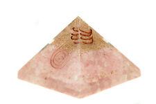 Orgonit Pyramide - Rosenquarz programmiert nach Agnihotra 456