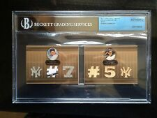 2007 TOPPS TRIPLE THREADS  DOUBLE SEPIA #1 MICKEY MANTLE/JOE DIMAGGIO-4/27 BGS