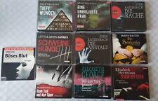 10 Hörbücher Hörbuchpaket 10 Stück Sammlung Konvolut  Krimis & Thriller