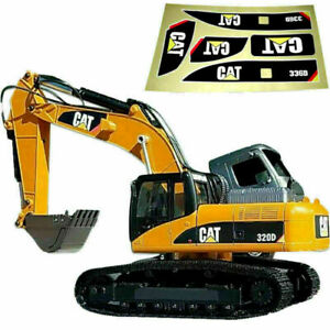 For Huina 580 1580 TR-211m 23 Channel RC Excavator Amewi 1:14 Waterproof Sticker