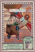 Kite Flying In China  Asia Orient 1901Trade Ad Card