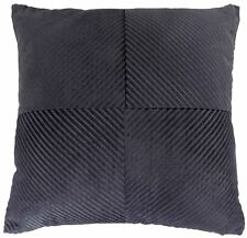 """BLACK INSPIRAL STRIPE CHENILLE THICK SOFT LARGE CUSHION COVER 22"""" - 55CM"""