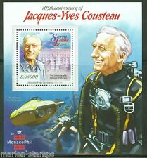 SIERRA LEONE 2015 JACQUES COUSTEAU 150th BIRTH ANNIVERSARY S/SHEET MINT NH