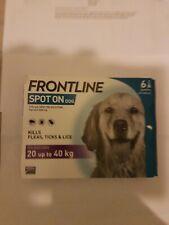 Frontline Spot On Flea & Tick Treatment - Large Dogs (20kg - 40kg) - 6 Pipettes