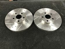 TOYOTA CELICA 2.0 GT4 ST185  DRILLED GROOVED FRONT BRAKE DISCS 277MM