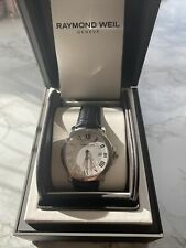Raymond Weil Tango White Dial Leather Strap Mens Watch 5591-L1-00300 Swiss Made