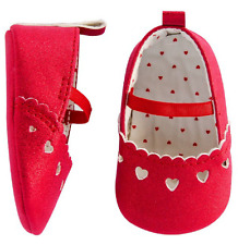 Baby Girls Laser Cut Heart Mary Jane Shoes - Newborn - Made by Carters