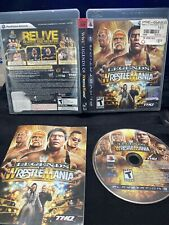 Playstation 3 Legends Of Wrestlemania WWE WWF PS3 Manual CIB Hogan Cracked Case