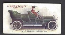 LAMBERT & BUTLER - MOTORS - #3 15 HP COVENTRY HUMBER CAR