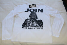 Star Wars Mens Join The Dark Side White Printed Long Sleeve T Shirt Size S New