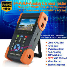 "3.5"" IP+AHD+Analog Tester CCTV Camera WiFi HD 1080P Video PTZ POE Audio UTP Test"
