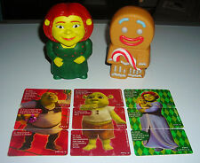 LOT OF TWO SHREK MCDONALDS CARD GAME TOY FIGURE CAKE TOPPERS