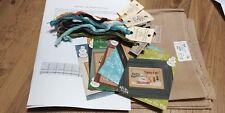 Lizzie Kate 6 Fat Men Flip-it Series Cross Stitch Charts, Fabric, Threads. kit.