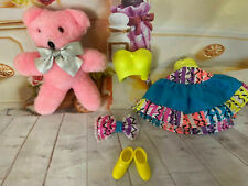 Mint Barbie Outfit With Teddy Bear , Skirt, Top ,Bow,Shoes