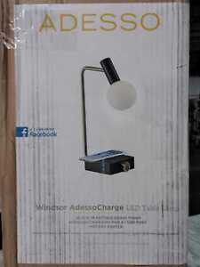 Adesso Windsor Qi Wireless Charging 17.5 in. LED Steel Desk Lamp