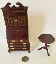 Dollhouse Miniature Fancy High Boy Wood Vintage Concord And Table Victorian