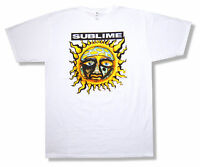Sublime Sun On White 30/1 T Shirt New Classic Logo Official