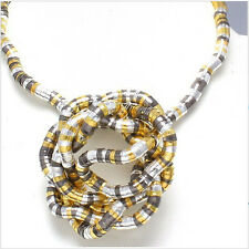5mm 90cm Multi-Colored Iron Flexible Bendy Snake Bendable Necklace,6pcs/pack
